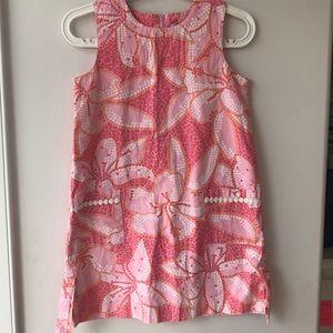 Lily Pulitzer pink flowered shift dress